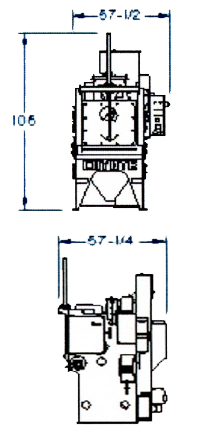 3 cubic foot air blast barrel dimensions